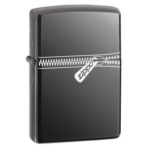 Zippo Zipped Lighter - Black Ice