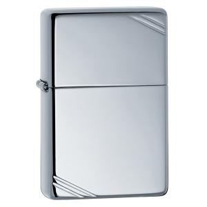 Zippo Vintage Lighter - High Polish Chrome with Slashes