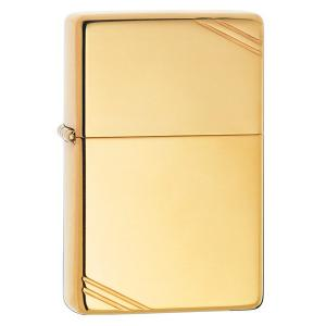 Zippo Vintage Lighter - High Polish Brass with Slashes