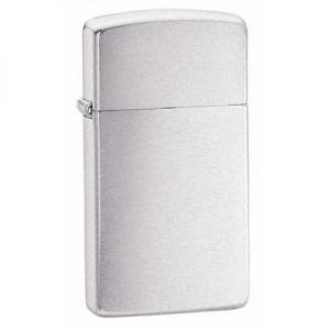 Zippo Slim Lighter - Brushed Chrome