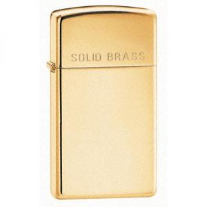 Zippo Slim Lighter - High Polished Brass