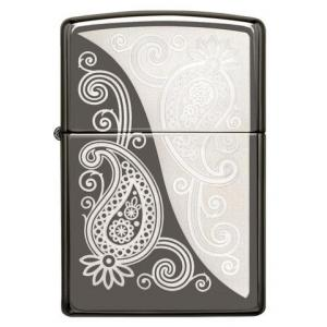 Zippo - Black Ice Paisley Design - Windproof Lighter