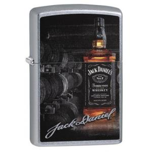 Zippo - Street Chrome - Jack Daniels Bottle & Signature - Windproof Lighter