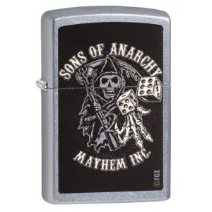 Zippo - Street Chrome Sons of Anarchy Reaper & Dice - Windproof Lighter