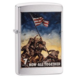 Zippo - Brushed Chrome US Marine Corps - Windproof Lighter