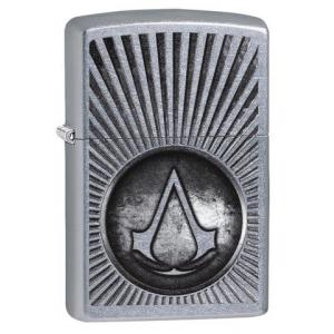 Zippo - Street Chrome - Assassin's Creed Crest - Windproof Lighter