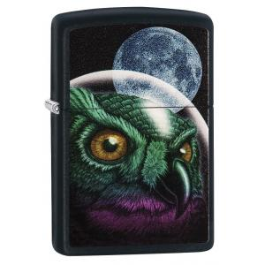 Zippo - Space Owl - Matte Black -  Windproof Lighter
