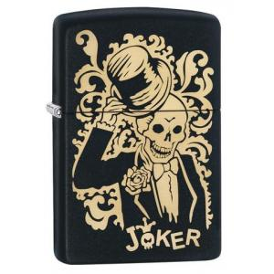 Zippo - Black Matte Joker - Windproof Lighter