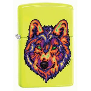 Zippo - Neon Yellow Neon Wolf - Windproof Lighter