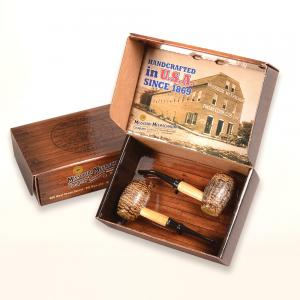 Corn Cob 2 Pipe Gift Set - Country Gentleman
