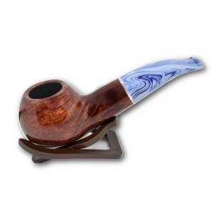 Savinelli Oceano Burgundy Smooth Apple Bent 320 6mm Pipe (SAV41)