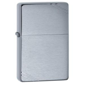 Zippo - Brushed Chrome Vintage with Slashes - Windproof Lighter