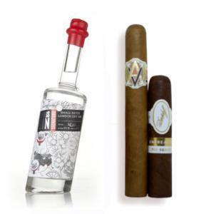 3 Pugs London Dry Gin & Cigar Selection Sampler