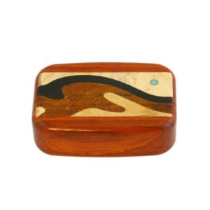 Wilsons of Sharrow Wooden Snuff Box - Patterened