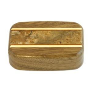 Wilsons of Sharrow Wooden Snuff Box - Walnut Pannel