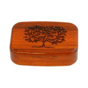 Wilsons of Sharrow Wooden Snuff Box - Love Tree Rosewood