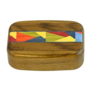 Wilsons of Sharrow Wooden Snuff Box - Colourful Panel