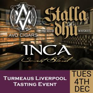 Turmeaus Liverpool Whisky & Cigar Tasting Event - 04/12/18