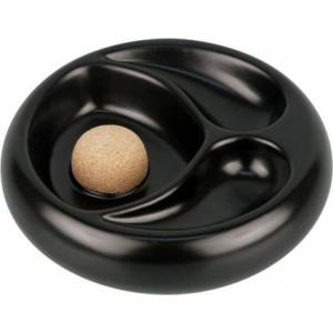 Ceramic Black Two Rests Pipe Ashtray with Cork Knocker