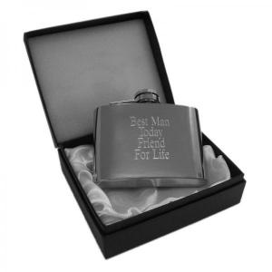 "4oz ""Friend For Life"" Personalised Hip Flask"
