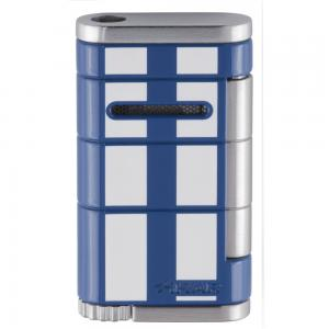 Xikar Allume Single Jet Lighter - Blue with White Stripes