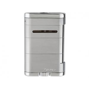 Xikar Allume Triple Jet Table Top Lighter - Steel Silver