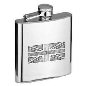 6oz Union Jack Personalised Hip Flask
