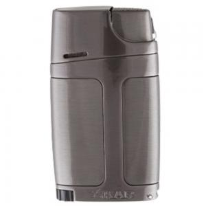 Xikar ELX Twin Jet Lighter with Punch Cutter - Gunmetal