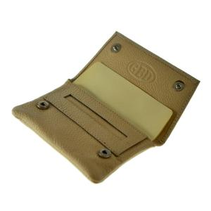 GBD Mini Leather Hand Rolling Tobacco Pouch - Cream
