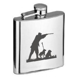 6oz Shooting Huntsman Personalised Hip Flask