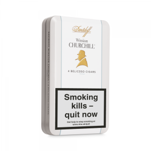 Davidoff Winston Churchill Traveller Belicoso Cigar - Tin of 4