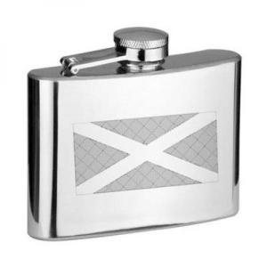4oz Scottish Flag Personalised Hip Flask
