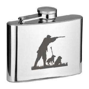 4oz Shooting Huntsman Personalised Hip Flask