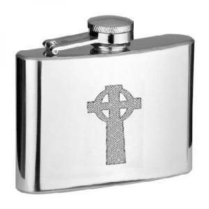4oz Celtic Cross Personalised Hip Flask