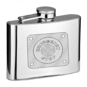 4oz Emergency Stop Personalised Hip Flask