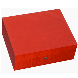 Elie Bleu Fruit Collection Red Humidor - 75 Cigar Capacity