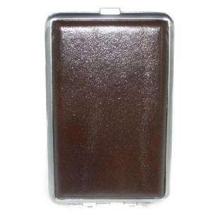 Leather Brown Cigarettes Case - Holds 12 Kingsize Cigarettes