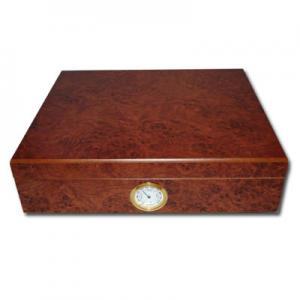Classic - Dark Burl - Desk Top Humidor - 20 Cigars Capacity
