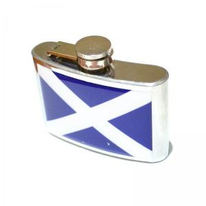 4oz Scottish Flag Design Personalised Hip Flask
