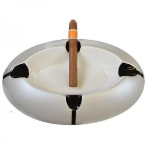Ceramic Four Rest Cigar Ashtray - Metallic Pearl