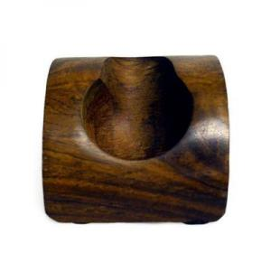 Wood Dome Shaped Pipe Rest - Holds 1 Pipe
