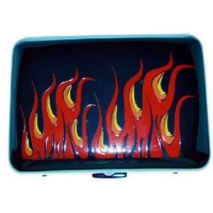 Angelo Blue Ice Colour Flame Cigarette Case