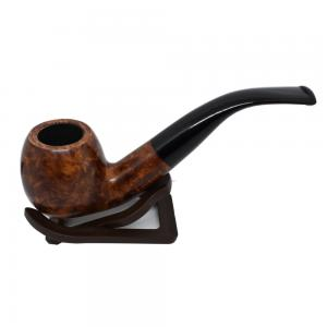 Adsorba Light Brown Smooth Bent Round Apple Pipe