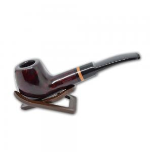 Adsorba Dark Cherry Smooth Semi Bent Pot Pipe