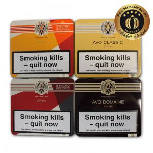 Exclusive - AVO Puritos Dominican Republic Selection Sampler - 4 Tins of 10 Cigars