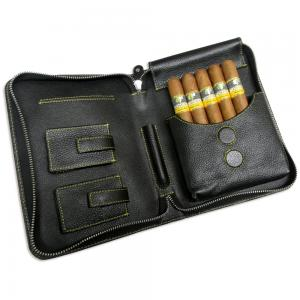 Adorini Leather Cigar Case and Cohiba IV Travel Sampler - 5 Cigars