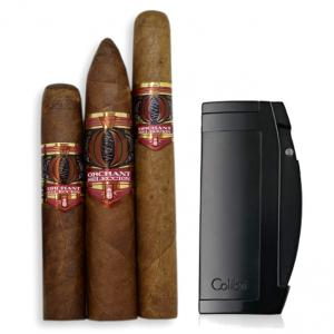Alec Bradley Orchant Seleccion Cigars + Colibri Enterprise Double II Jet Lighter Sampler
