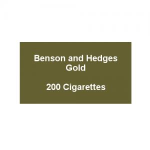 Benson & Hedges Gold - 10 Packs of 20 Cigarettes (200)