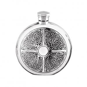 6oz Pewter Hip Flask - CEL176