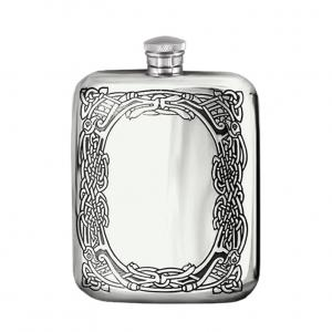 6oz Pewter Hip Flask - CEL179